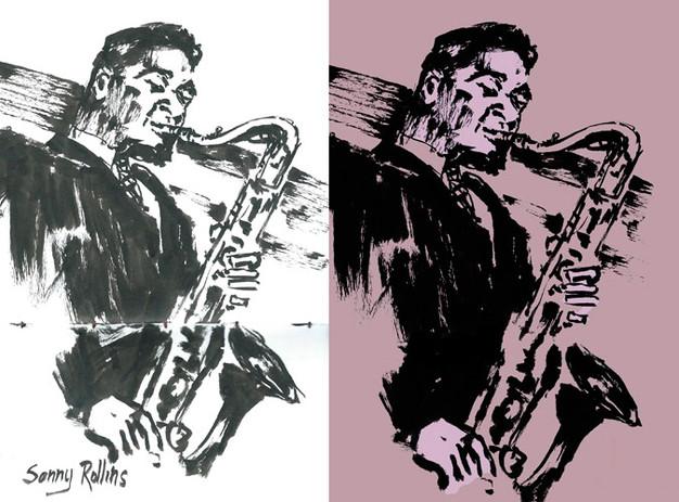 Sonny Rollins | Sketch a tinta digitalizado