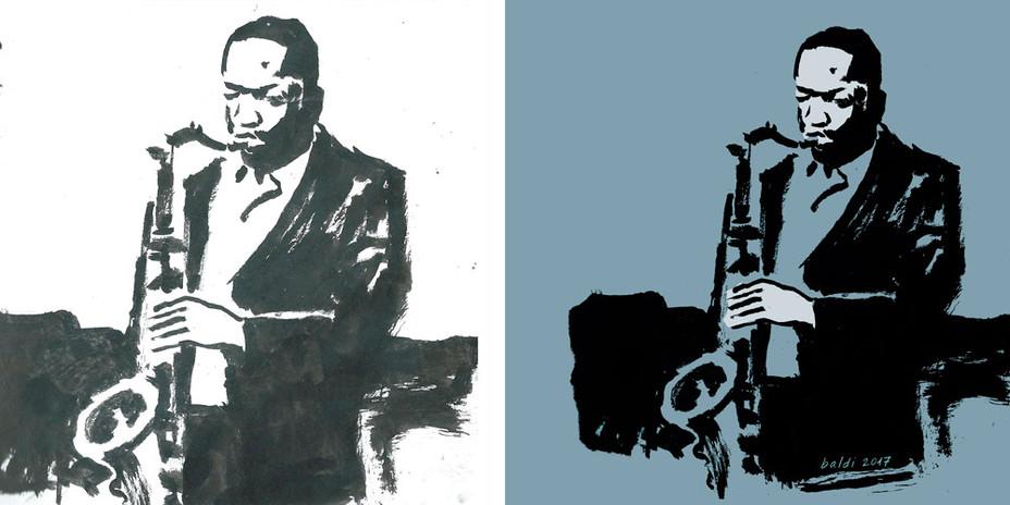 Coltrane | Sketch a tinta digitalizado