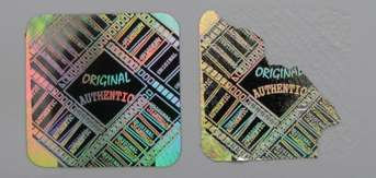 14MMS3 - 14MM SQUARE SILVER HOLOGRAM LABEL