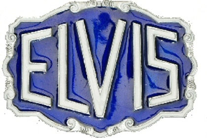 Elvis Belt Buckle DD217 Blue