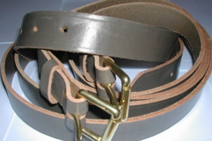 Grey Luggage Straps Full Grain Leather (1 Pair 2 straps)