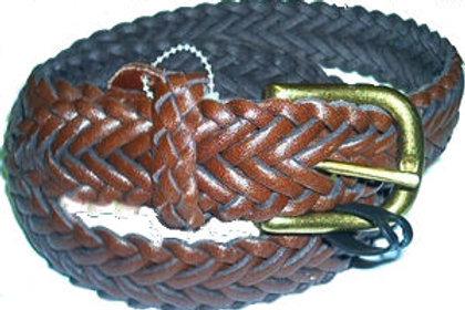 Plaited Braided Real Leather Belt Cross Platt Pattern