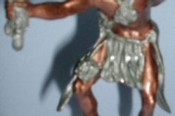 PEWTER INDIAN FIGURE MEDICINE MAN