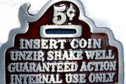 5 CENT INCERT COIN BUCKLE GT326RED