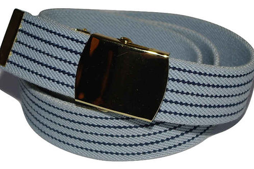 Elasticated Belt Light Blue Comfort Fit Style