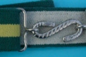 Childrens Elasticated Belt Green And Yellow