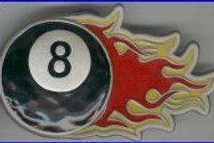 FLAMING 8 BALL BELT BUCKLE GT4564