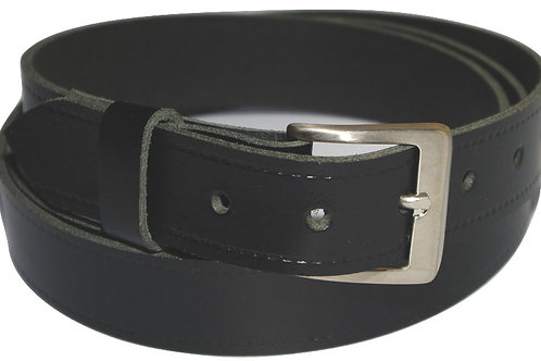 Black Real Leather Trouser Belt 30mm