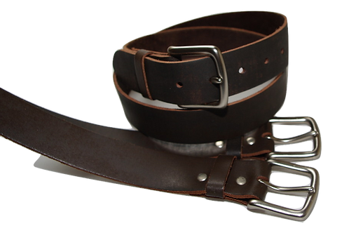 34mm Plain Brown Belt