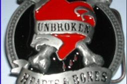 Unbroken Hearts and Bones Buckle dd653