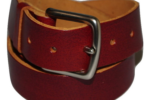 34mm Rustic real leather Belt
