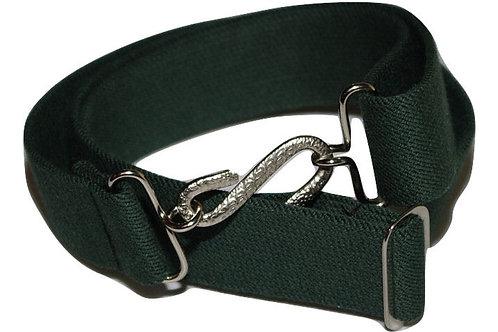 Adult Elasticated Belt Green