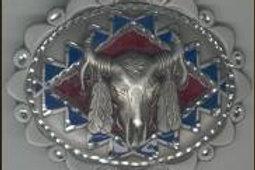 LARGE STEER SKULL DIAMOND CUT BUCKLE GT4283L