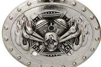 Skull Motor Flame Buckle t1