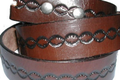 BROWN PATTERN BELT CBS509