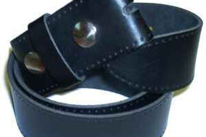 Plain Black Leather Belt Strap 38mm