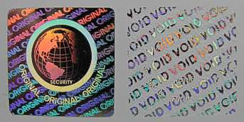 25MMS1 - 25MM SQUARE SILVER HOLOGRAM LABEL