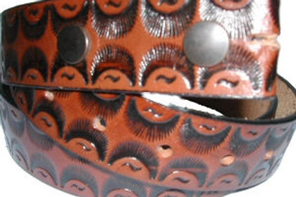 BROWN PATTERN BELT CBS507