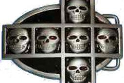 Crossed Skulls Buckle bk1004