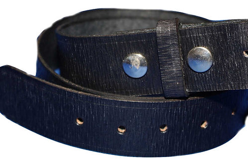 Black Cross Grain Leather Belt 38mm