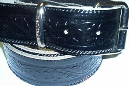 Black Acorn Pattern Belt Strap B8Ablack 38mm