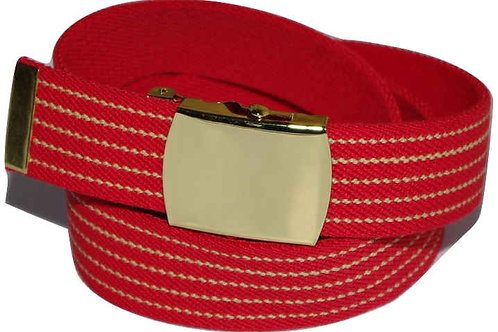Elasticated Belt Red Comfort Fit Style