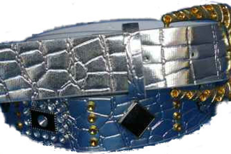 DIAMANTE BUCKLED BELT SYNTHETIC FASHION CH009
