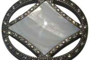 Pearl Dimante Buckle