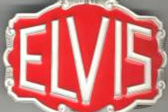 ELVIS BELT BUCKLE DD217 BRIGHT RED