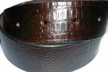 Crock Grain Print Belt Brown
