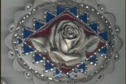 LARGE ROSE DIAMOND CUT BUCKLE GT4288L