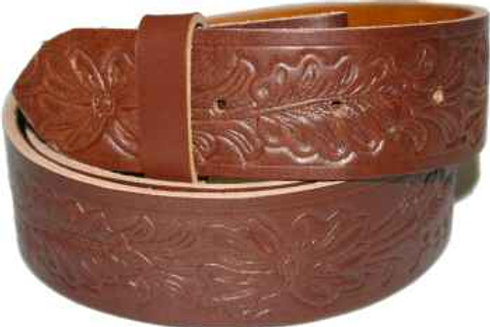 Brown Leaf Pattern Belt Strip 38mm