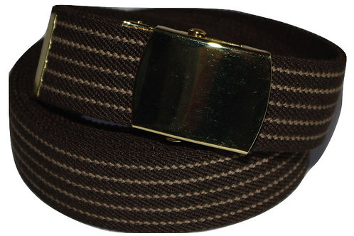 Elasticated Belt Brown Comfort Fit Style
