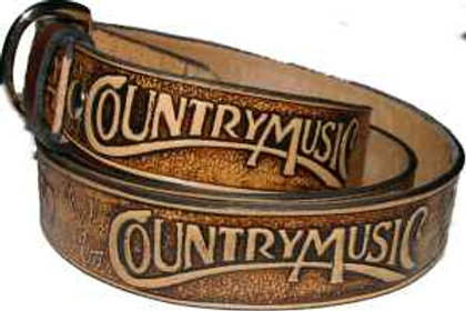 Country Music Hand painted Belt cbscountry