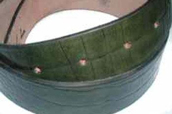 Crock Grain Print Belt Green