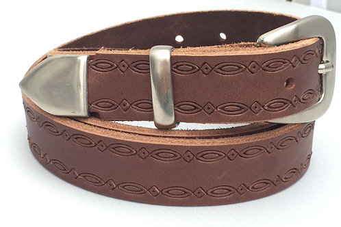 Brown Western Rope Edge Hand Made Belt