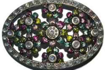 Flowers Dimante Buckle