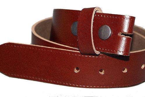Plain Dark Tan Belt Strip 38mm