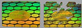 3020MMG1 - 30MM X 20MM RECTANGULAR GOLD HOLOGRAM LABEL