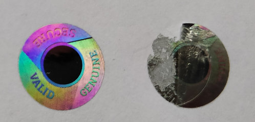 12MMSDSCB - 12MM DIAMETER CIRCLE SILVER HOLOGRAM LABEL