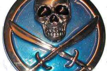 Oval Skull with Swords BK1201