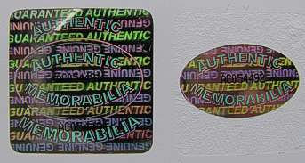 25MMS2 - 25MM SQUARE SILVER HOLOGRAM LABEL