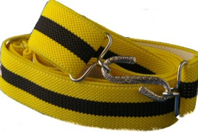 Adult Elasticated Belt Black and Yellow