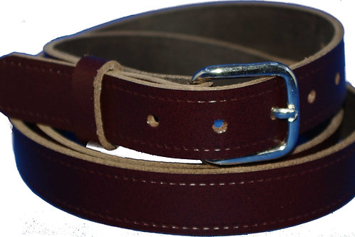 25mm 1 Inch Brown Real Leather Belt