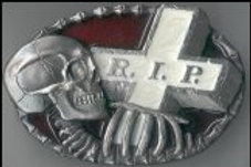 REST IN PEACE SKULL BUCKLE DDS04