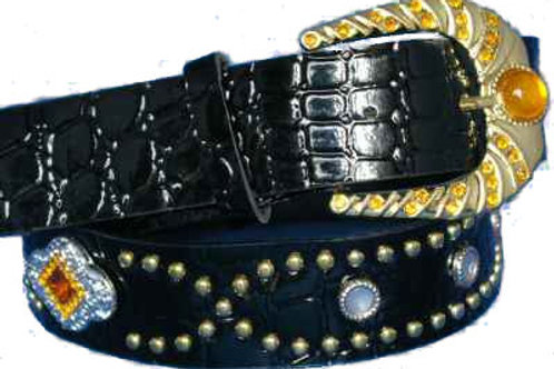 DIAMANTE BUCKLED BELT SYNTHETIC FASHION CH011