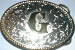 GOLD AND SILVER PLATED LETTER G BUCKLE GSBG
