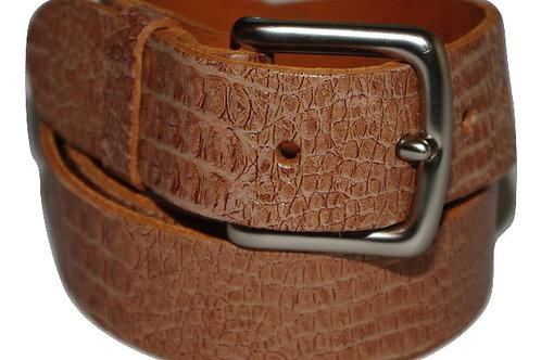 34mm Beige Crock real Leather Belt