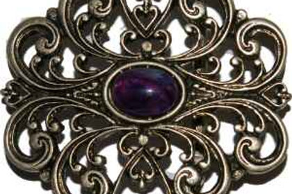 Celtic Buckle Purple Stone