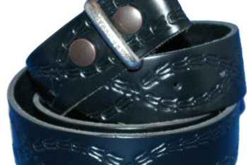 38mm Hand Made Florentine pattern Belt strip for Buckles